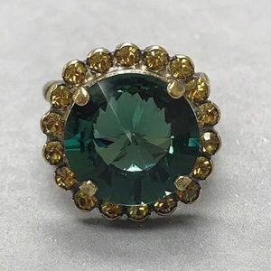 Sorrelli Teal Crystal Ring, NWT